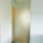 Porta scorrevole in vetro satinato - Roma - VetroeXpert - Porte in vetro su misura e Pareti divisorie