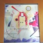 Porte Scorrevoli Per Ante A Scomparsa In Cristallo Decorato Con Immagine Kandinskij Porte In Vetro E Pareti Divisorie