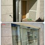 Preparazione al montaggio vetrata pieghevole - Roma - VetroeXpert - Vetrate Pieghevoli e vetrate a scomparsa Glassroom