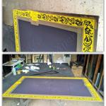 Realizzazione di decoro su specchio - Roma - VetroeXpert - Decorazioni e Serigrafie