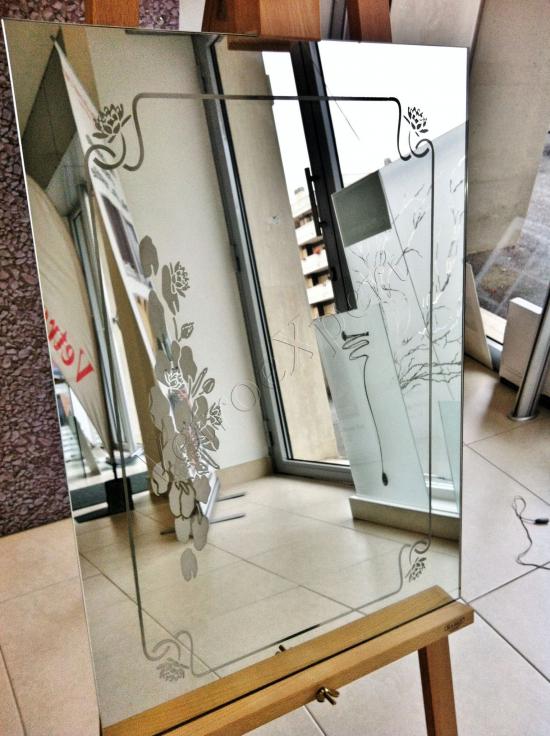 Specchio decorato - Roma - VetroeXpert - Decorazioni e Serigrafie - Arredo in cristallo