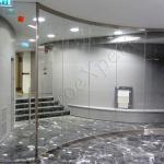 Vetrata Dividoria Con Vetri Curvi Roma VetroeXpert Pareti Divisorie In Cristallo