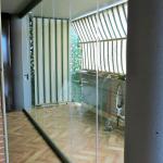 Vetrata pieghevole chiusa uscita balcone - Roma - VetroeXpert - Vetrate Pieghevoli e vetrate a scomparsa Glassroom