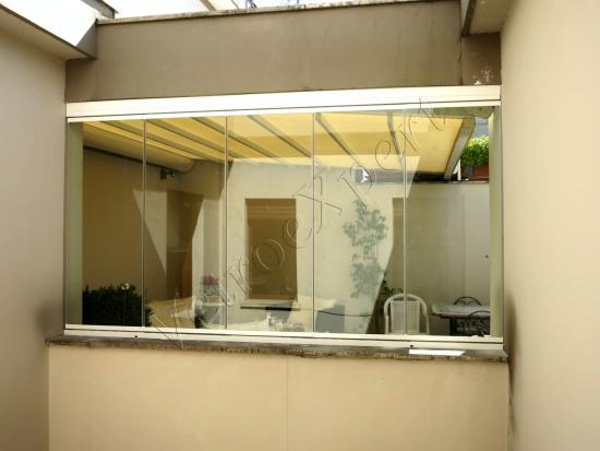Vetrata pieghevole interno - Roma - VetroeXpert - Vetrate Pieghevoli e vetrate a scomparsa Glassroom