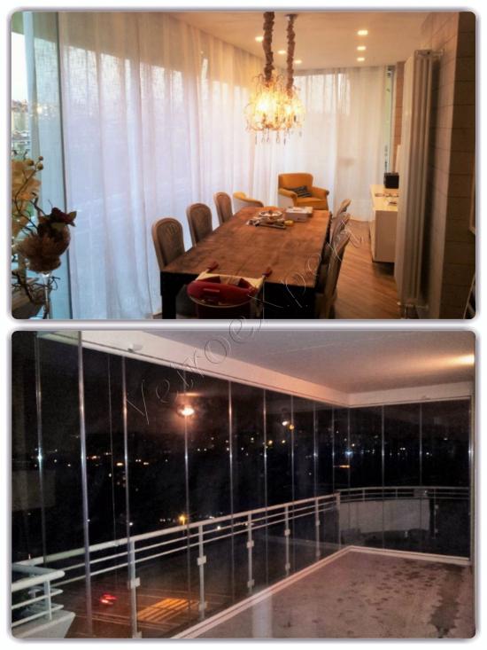 Vetrata pieghevole salone - Roma - VetroeXpert - Vetrate Pieghevoli e vetrate a scomparsa Glassroom