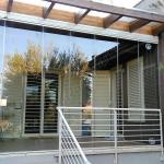 Vetrate a scomparsa Glassroom vista frontale - Roma - VetroeXpert - Vetrate Pieghevoli e vetrate a scomparsa Glassroom