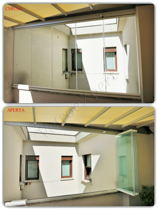 Vetrate a scomparsa - Roma - VetroeXpert - Vetrate Pieghevoli e vetrate a scomparsa Glassroom