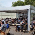 Vetrate Panoramiche Installate In Un Bar Con Pergola Bioclimatica Roma VetroeXpert Vetrate Pieghevoli E Vetrate A Scomparsa Glassroom
