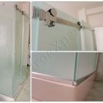 Vista laterale Box doccia con ante scorrevoli - Roma - VetroeXpert - Box doccia in cristallo temperato su misura
