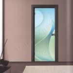 Porta a battente in vetro satinato con decoro-BC - Roma - VetroeXpert - Porte in vetro su misura e Pareti divisorie