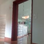 Porta a doppia anta in vetro trasparente con sabbiature - Roma - VetroeXpert - Porte in vetro su misura e Pareti divisorie