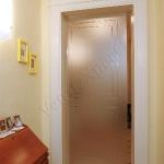Porta scorrevole in vetro - satinato - Roma - VetroeXpert - Porte in vetro su misura e Pareti divisorie