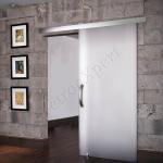 Porta scorrevole in vetro stratifica coprente bianca - Roma - VetroeXpert - Porte in vetro su misura e Pareti divisorie