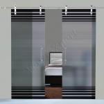 Porte scorrevoli in vetro con decoro-BO - Roma - VetroeXpert - Porte in vetro su misura e Pareti divisorie