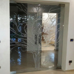 Render Porte decorate - Roma - VetroeXpert - Porte in vetro su misura e Pareti divisorie