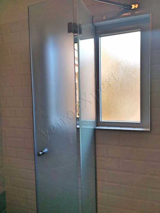 box doccia in vetro satinato su misura roma